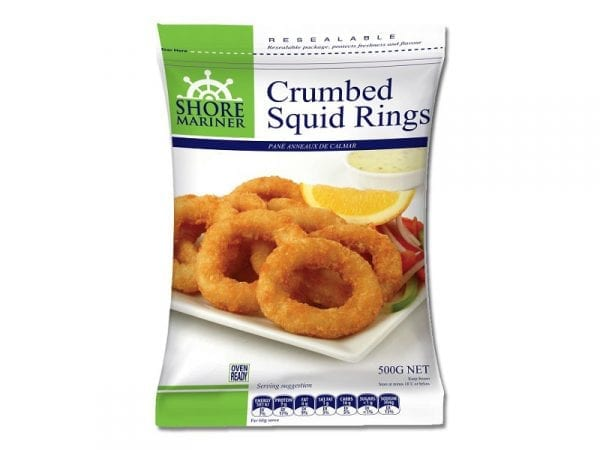Crumbed Squid Rings