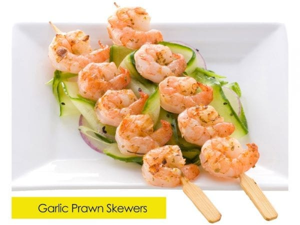 Prawn skewer garlic
