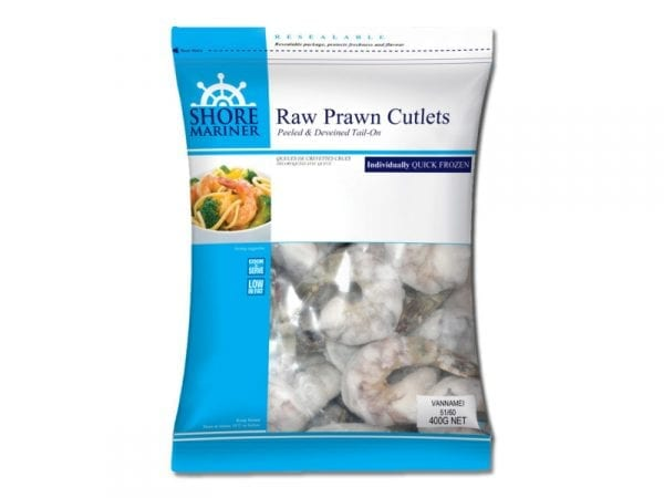 Raw prawn cutlets 400g
